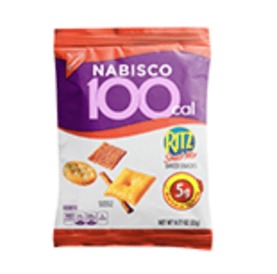 Nabisco 100 calorie snack packs