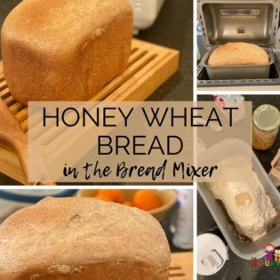 Honey Whole Wheat bread in the Bread Mixer