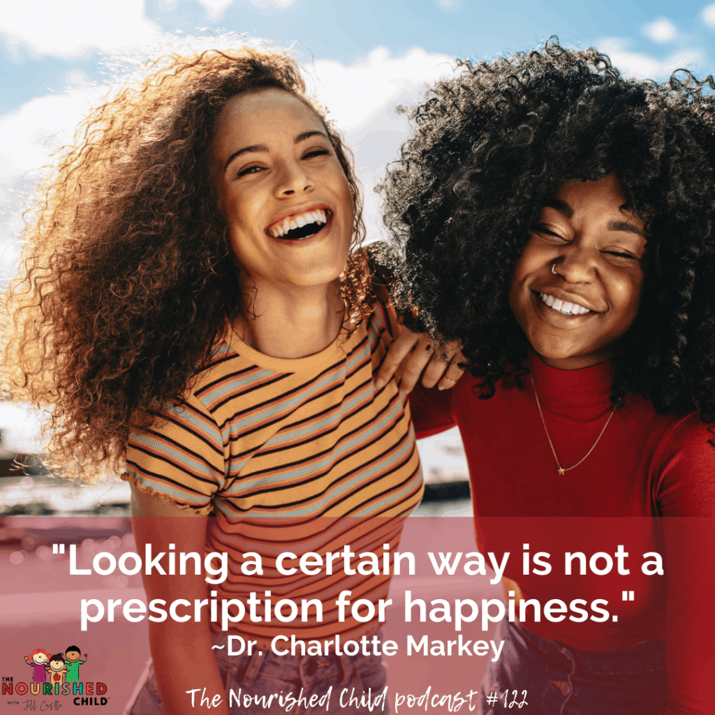 Quote from Dr. Charlotte Markey, author of The Body Image Book for Girls